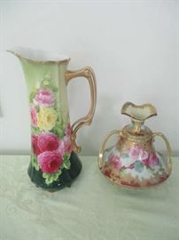 Nippon hand painted vases