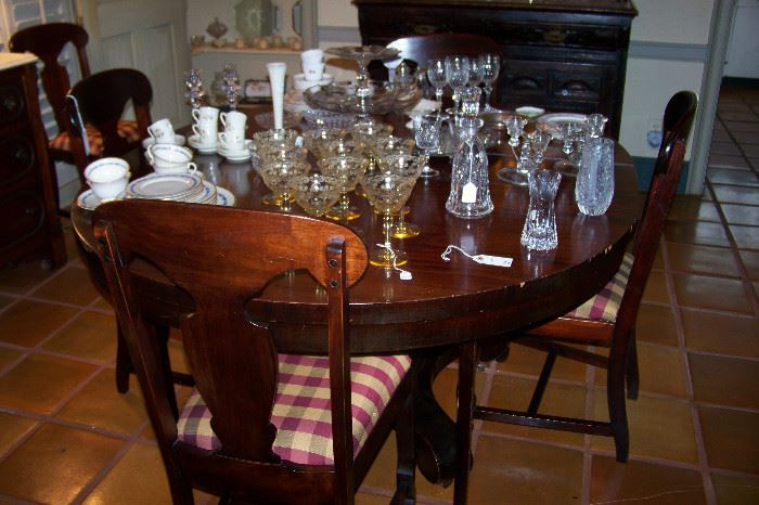 Empire table, chairs