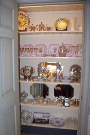 Beautiful porcelains, glass