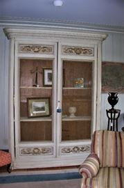French cabinet w/wire doors
