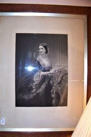 Early engraving, framed