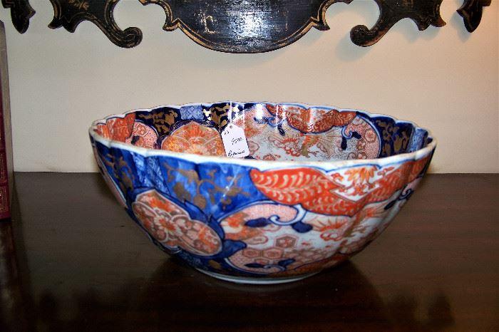 Imari bowl, repaired