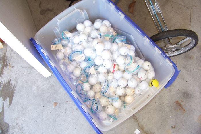 TONS of golf balls, Titalis, etc.