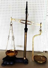 Antique Brass Scales, Marked