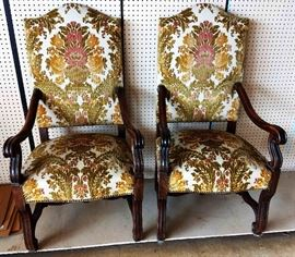 Pair of Antique Upholstered Chairs