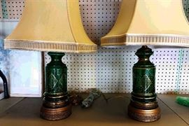 Pair of Austrian Glass Table Lamps