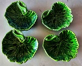 Vintage Majolica Nut Dishes