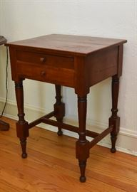 "BUY IT NOW!  $75 - Antique Cherry Table with 2 Drawers (approx. 21.75"" L x 17.25"" W x 30"" H)"