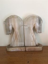 Marble Stallion Bookends