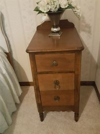 Nightstand with original hardware in excellent condition.