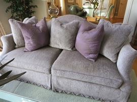 CAMEL BACK SOFA WITH ROLL ARMS CENTURY FURNITURE COMPANY