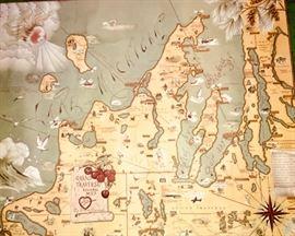 Vintage Grand Traverse region map