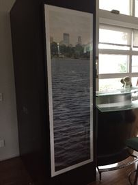 Fantastic framed photo overlooking Cedar Lake to Minneapolis skyline.   6ft 1 inch tall by 2ft 1 inch wide