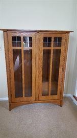 Stickley curio cabinet