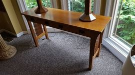 Stickley sofa Library table