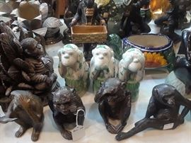 We have a huge selection of monkey figures. Mostly smaller sizes. Ceramic, metal