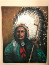 40x36 Acrylic on Canvas by famous American Indian artist Charles Azbell