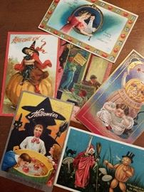 Vintage Postcards, Halloween Postcards, Embossed Postcards by Nash, Whitney, Bamforth & Co., Raphael Tuck & Sons, and more.