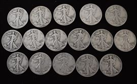 Over $100.00 face value silver coins.