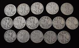 Over $100.00 face value silver coins.