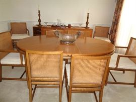Baker Furniture Co. Mid Century Modern Table/Chairs