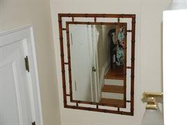 "John Widdicomb mirror- bamboo style-46""x34.25"""