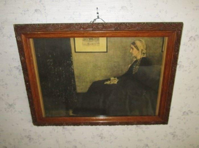 Whistler's Mother framed print