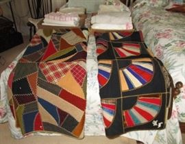 Antique hand made quilts, linens