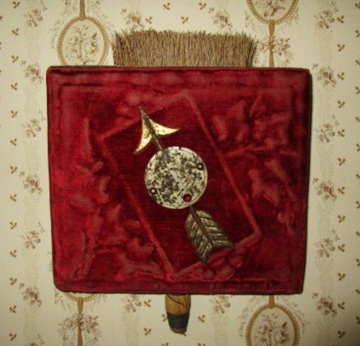 Antique wisk broom and holder