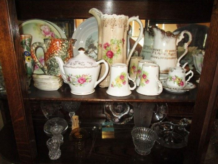 Collectible porcelain and glass
