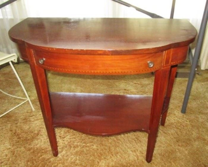 Two matching end/side tables