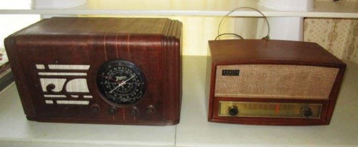 Vintage Zenith radios