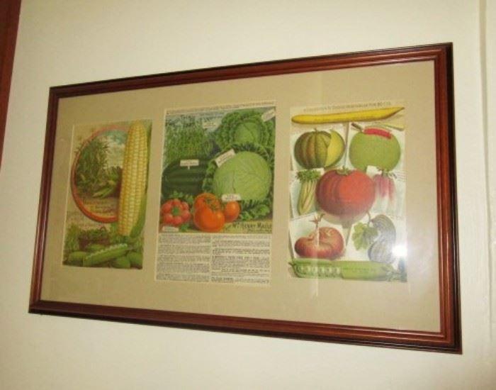 Vintage vegetable print
