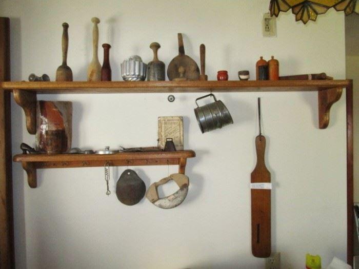 Antique kitchen collectibles