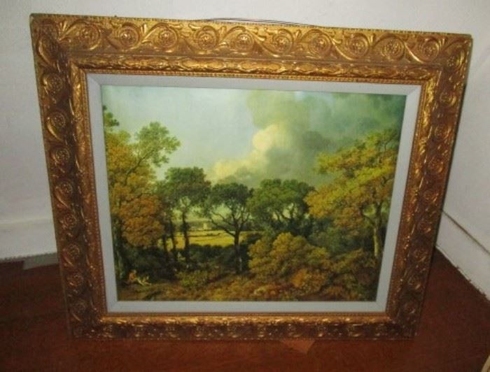Antique gold painted frame