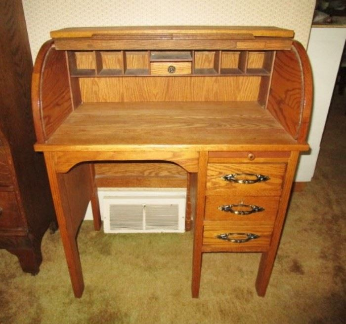 Beautiful antique child's roll top desk