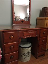 Dresser and old can