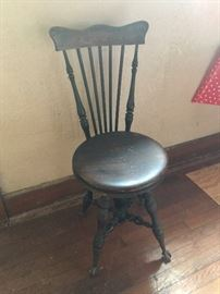 Antique piano/organ chair