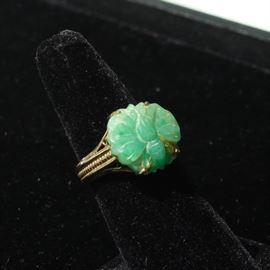14k carved jade
