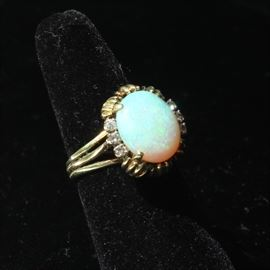 14 k diamonds and opal