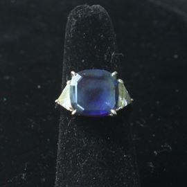 14 k diamonds and sapphire