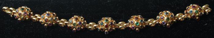 18k gold and semi-precious stone bracelet