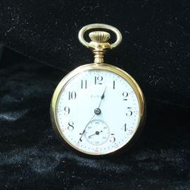 Elgin gold filled pocket watch