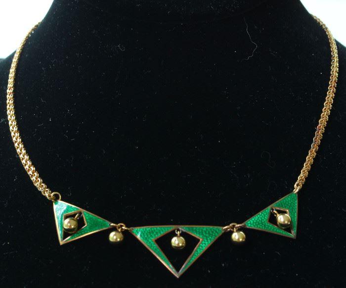9k enamel necklace