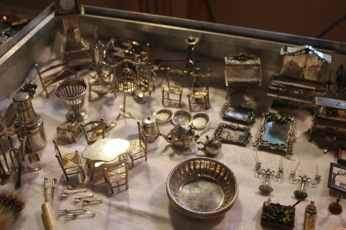 Eugene Kupjack Sterling Silver miniature furniture