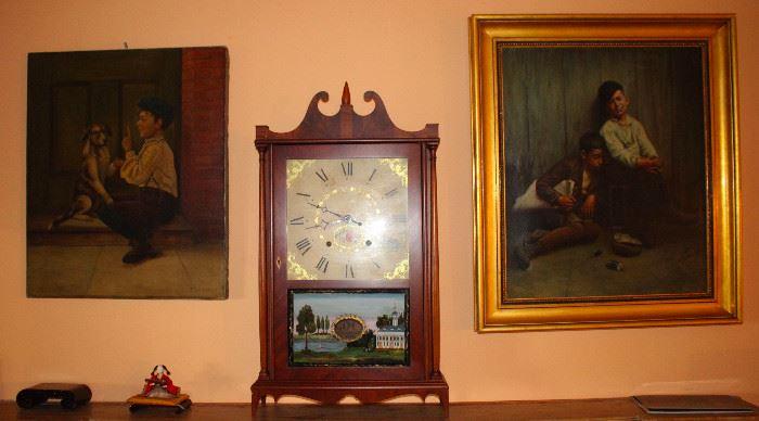 Original artwork, Seth Thomas clock