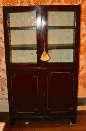 Lighted mahogany cabinet