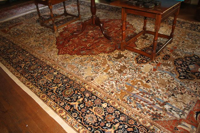 Kashmir hand knotted rug