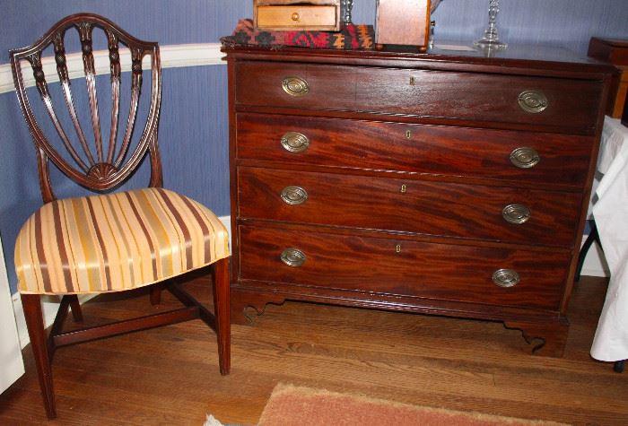 Antique mahogany chests