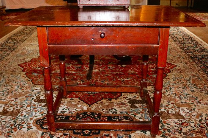 One of 2 Antique Tavern Tables